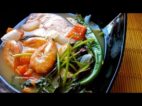 Ulam Pinoy #9 - Seafoods Sinigang (Salmon Shrimp Sour Soup)