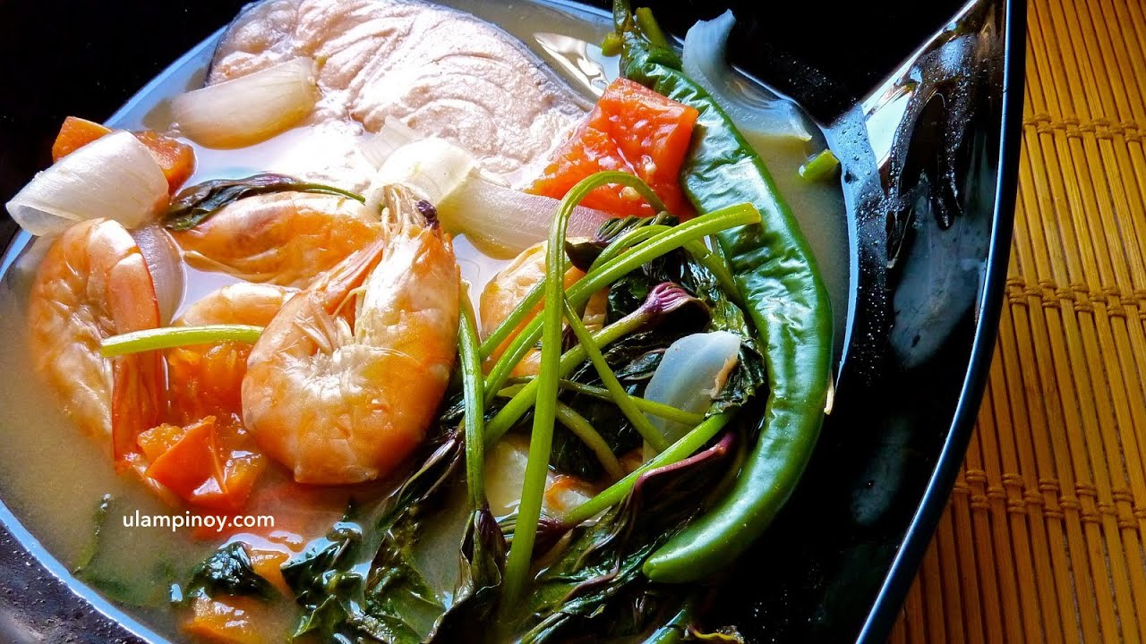 Ulam Pinoy 9 Seafoods Sinigang Salmon Shrimp Sour Soup Youtube