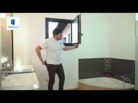 Somalu - Gondage et dégondage fenêtre oscillo-battant EXELISS - YouTube