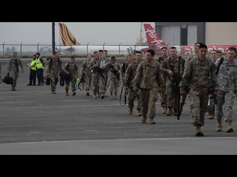 United States Army Arrival in Subic Philippines for Balikatan 2017