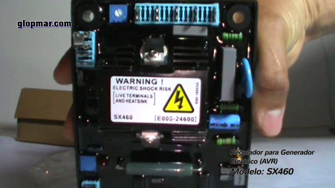 Regulador Automatico De Voltaje Para Generador Modelo Sx460 Youtube Voltage Regulator Wiring Diagram