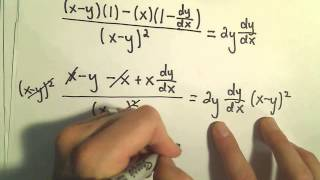 Implicit Differentiation - More Examples #4