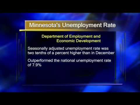 MN Unemployment Rates Slightly Up - Lakeland News at Ten - March 5, 2013