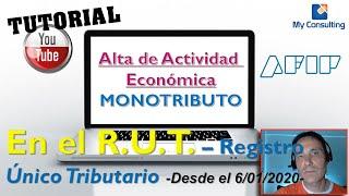 Скачать Crear O Modificar ACTIVIDADES ECONÓMICAS En El RUT REGISTRO ÚNICO TRIBUTARIO Afip TUTORIAL