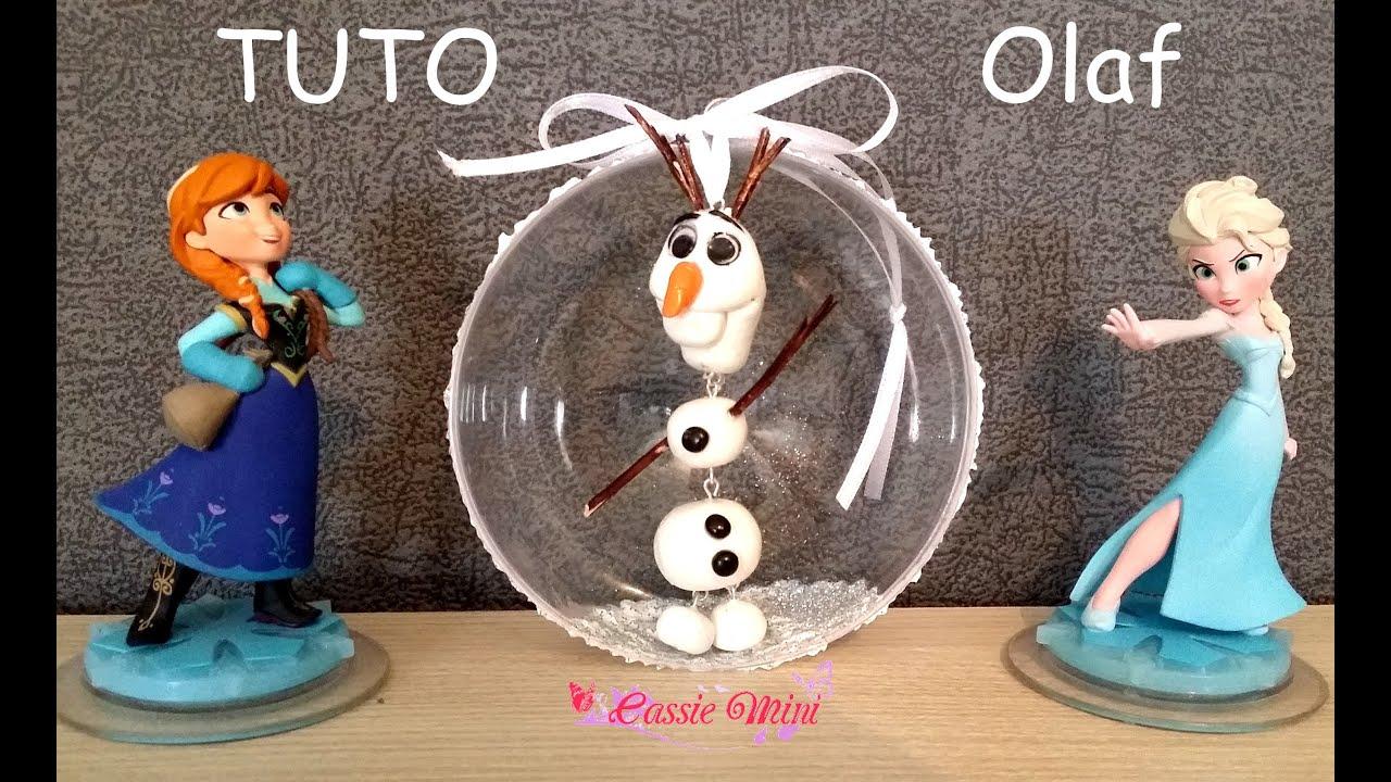Tuto olaf le bonhomme de neige en polym re youtube - Bonhomme de neige decoration exterieure ...