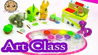 MLP Twilight Sparkle's Water Color Art Class -  LPS Students & Shopkins Season 5 Video Play