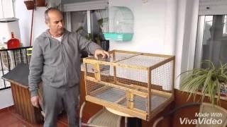 Restauración de jaula voladero de madera