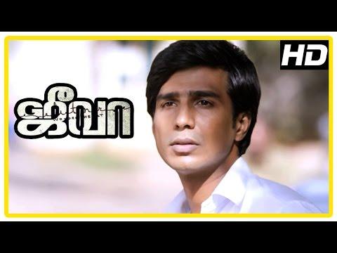 Jeeva Tamil movie | scenes | Vishnu and Sri Divya part ways | Charlie | Siva