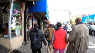 ⁴ᴷ⁶⁰ Walking NYC : Canarsie, Brooklyn via Rockaway Parkway to Canarsie Pier