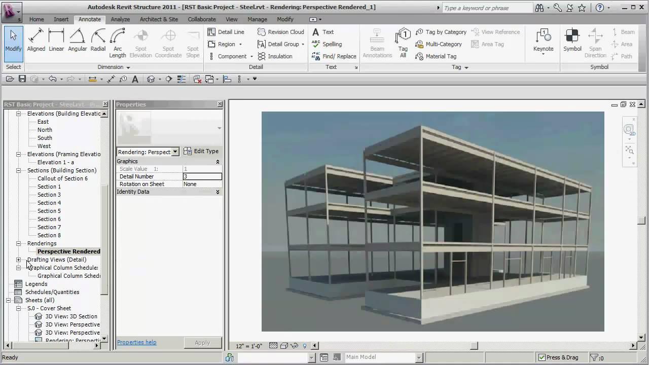 REVIT Structure - Basics + 3 Storey Building - CADclips