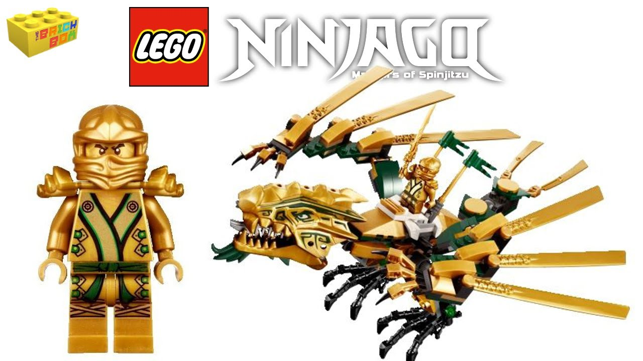 LEGO Ninjago Golden Ninja Lloyd with weapons The Final Battle