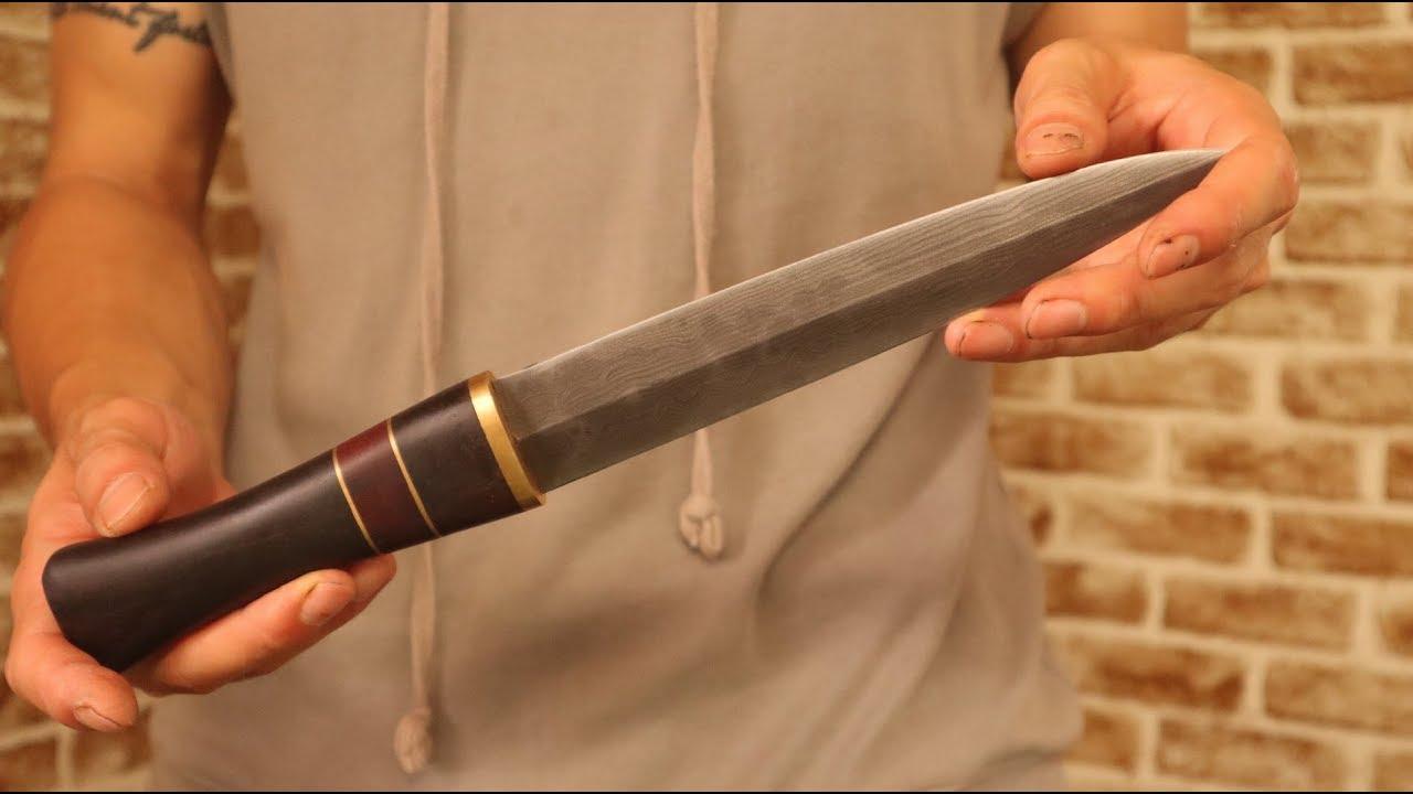 다마스커스 양날 단검 만들기 - making Damascus dagger