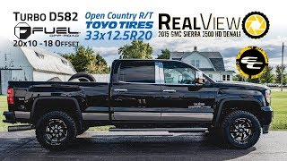 RealView - 2015 GMC Sierra 3500 Denali HD w/ 20x10 Fuel Turbos & 33x12.5 Toyos