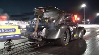 Black Mamba Rotary Powered VW Bug making Test Hits @ Palm Beach International Raceway