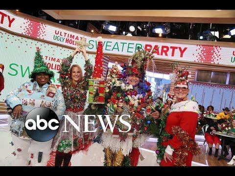 Download Youtube: 'GMA' ugly holiday sweater challenge: Who wore it best?