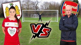 I Challenged PRO WOMENS Footballer To a Football Competition