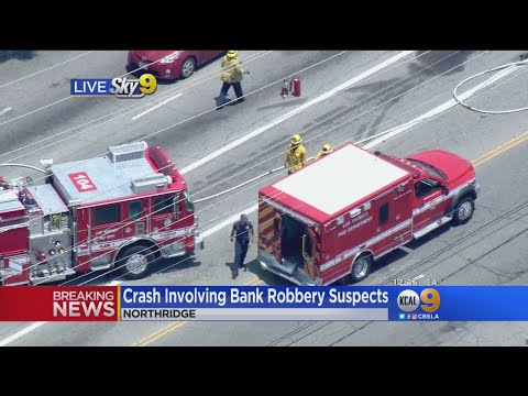 Bank Robbery Suspect Involved In Crash