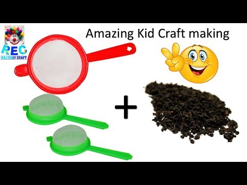 Easy best out of waste ideas for kids   school project   Easy art & craft