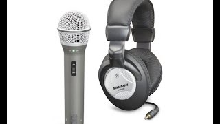 Samson Q2U Microphone + Headphone recording pack review.
