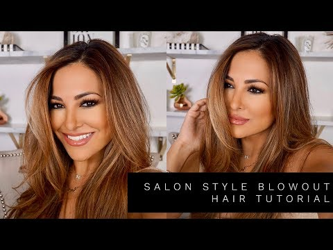 SALON STYLE BLOWOUT HAIR TUTORIAL | Lina Noory