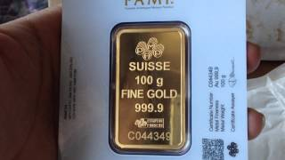 apmex purchase review 100 grams pamp suisse gold bar