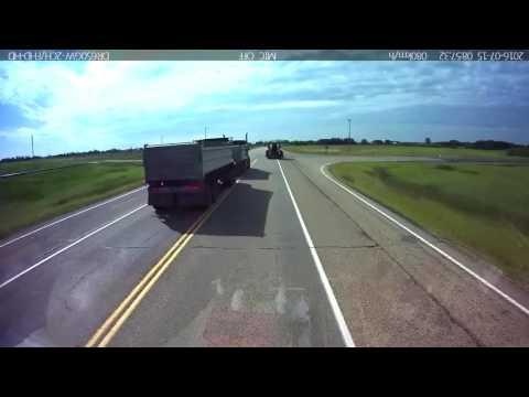 Dangerous Truck Drive in Alberta
