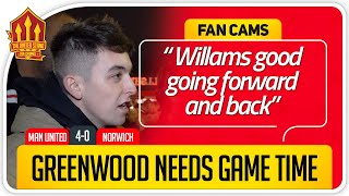 MADDISON OVER FERNADES! Manchester United 4-0 Norwich Fan Cam
