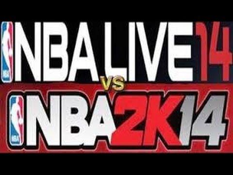nba 2k14 vs nba live 14 gameplay presentation side by