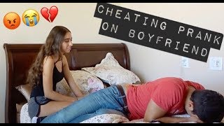 Intense Cheating Prank on Boyfriend!! *HE CRIES*   Ashley & Johnathan
