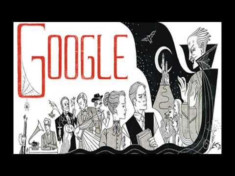 Bram Stoker books -   Google Doodle  for 165th birthday of Bram Stoker