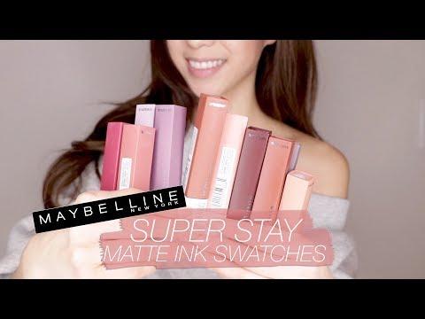 maybelline-superstay-matte-liquid-lipsticks-swatches!