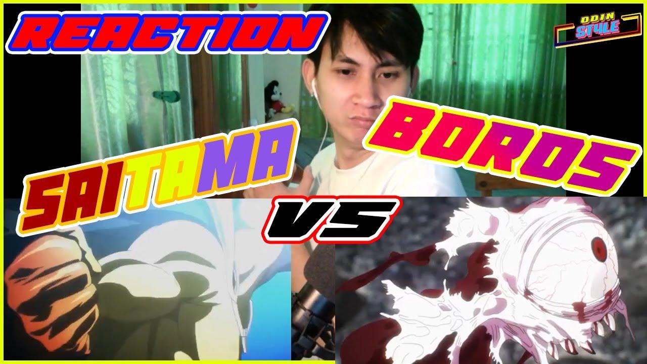 One Punch Man - Reaction Saitama VS Boros - YouTube