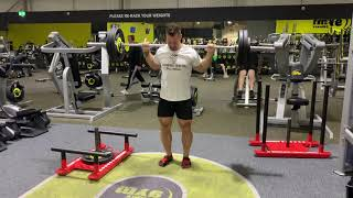 110kg (242.5 pounds) Walking lunges