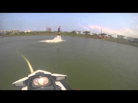 Learning to fly with flyboard