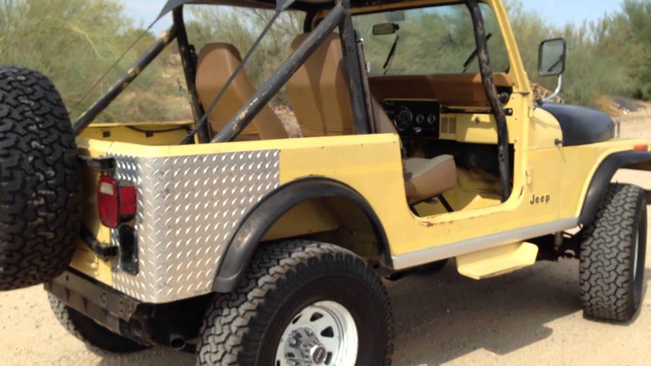 84 Jeep CJ7 Renegade SunYellow - YouTube