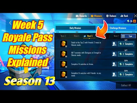 Season 13 Week 5 Royale Pass Missions Explained PUBG Mobile   Week 5 rp Missions Pubg Season 13