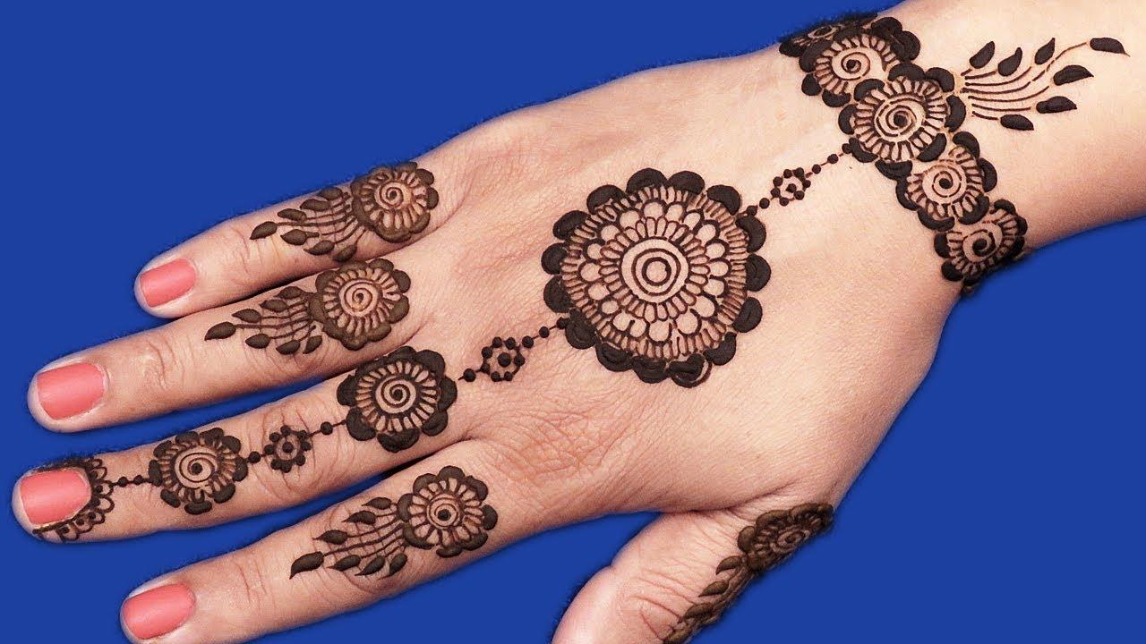 Mehndi Hands With Watch : Mehndi design for hands gol tikki jewelry
