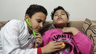 الدكتور يعالج مرام بعد ما تسممت !!!