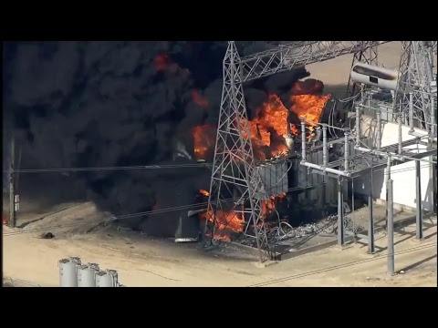 NOW: Massive fire burning at CenterPoint Energy facility in Texas City, Texas