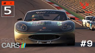 Project Cars Gameplay PC GT5 Ginetta at Brands Hatch