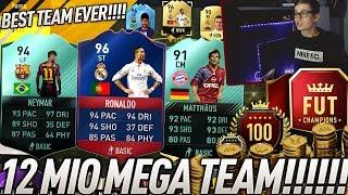 FIFA 17: OMFG 12 MIO MEGA FUT CHAMPIONS TEAM! 😱 (DEUTSCH) - ULTIMATE TEAM - BEST TEAM OF ALL TIME!
