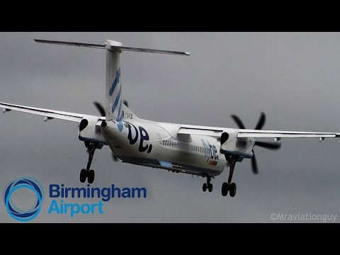 Flybe Dash 8-Q400 Hard Landing in Tricky Conditions at Birmingham Airport