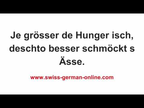 Cours de suisse allemand