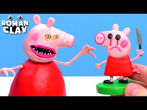Scary Peppa Pig.exe With Clay | Piggy.exe - I Can Count To Three