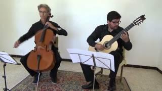 Astor Piazzolla: Milonga del Angel (guit & cello) Forcalquier Duo (Chanon-Fraga)