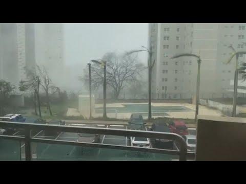 허리케인 '마리아' 푸에르토리코 상륙…섬 전체가 정전 / 연합뉴스TV (YonhapnewsTV)