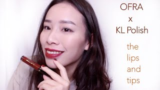KL POLISH x OFRA the lips and tips bundle Swatches & Review|Miami Fever & Havana Nights唇指彩組合刷色+簡短心得