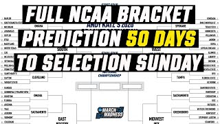 2020 March Madness bracket predictions, 50 days from Selection Sunday