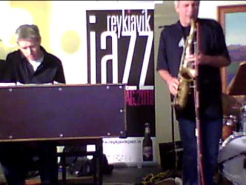 Perico Sambeat with the ASA trio at the radio. Reykjavik Jazz Festival 2010