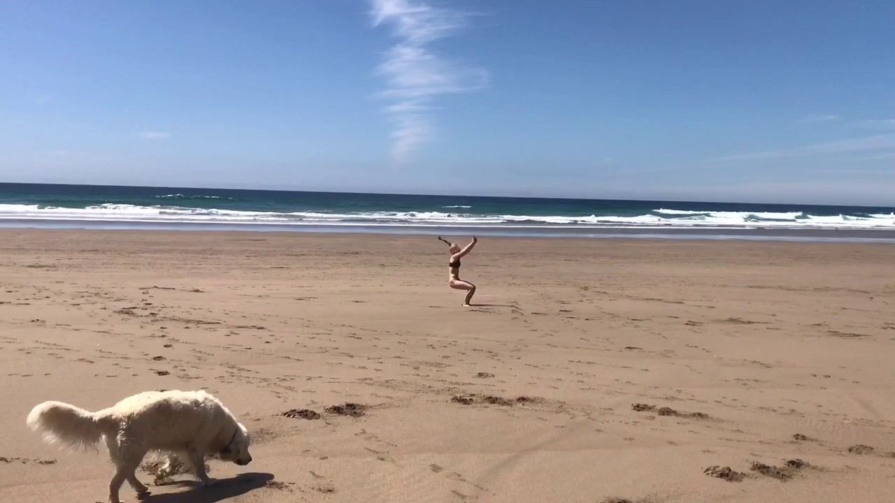7af235cce Girl Flips on the Beach - YouTube